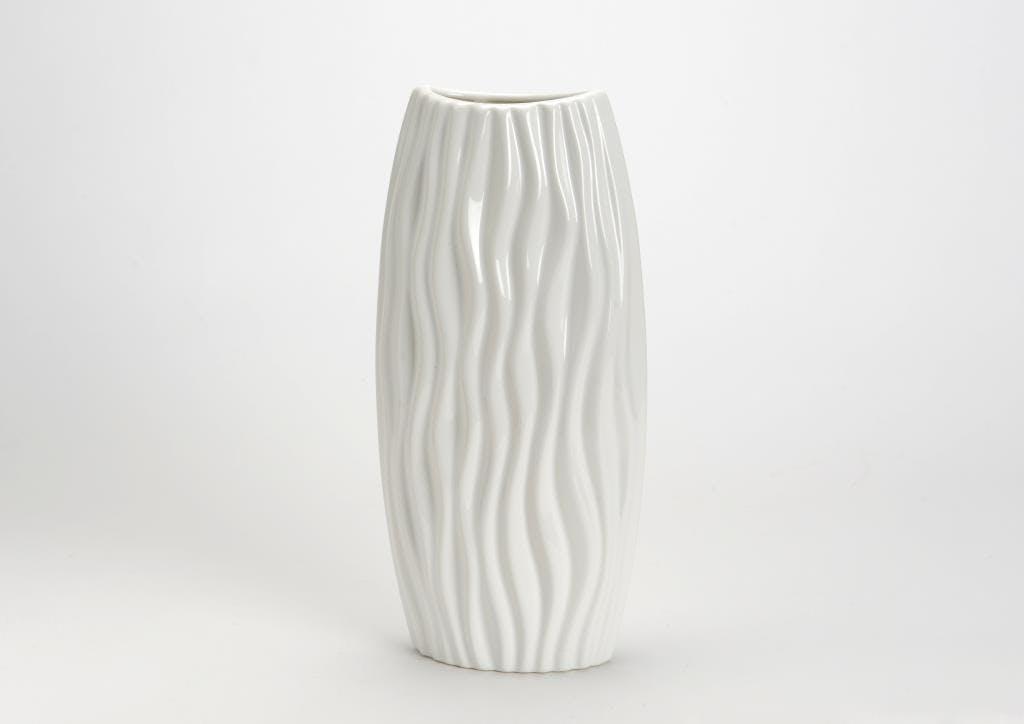 Vase Dune céramique blanc H31cm