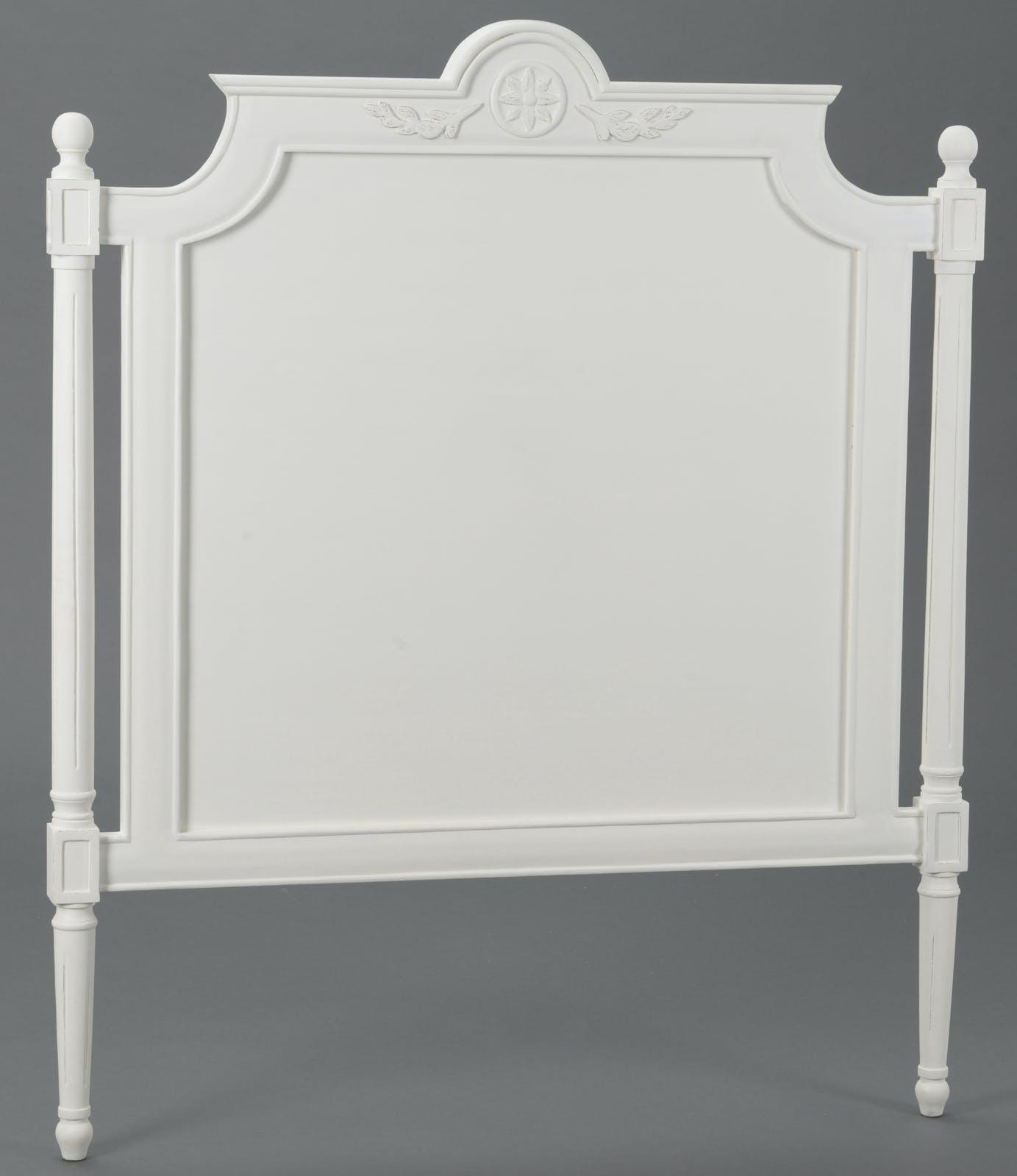Tête de lit Classique Chic AGATHE L 105 X H 125 X P 5 Blanc Antique AMADEUS