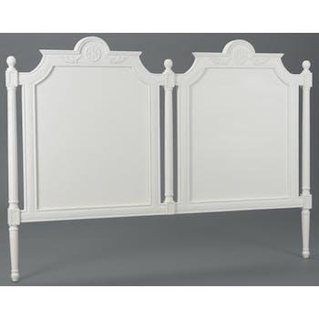 Tête de lit Classique Chic AGATHE L 175 X H 125 X P 5 Blanc Antique AMADEUS