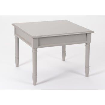Table basse chic en bois patiné gris BRICE L60 X Larg 60 X H45cm AMADEUS