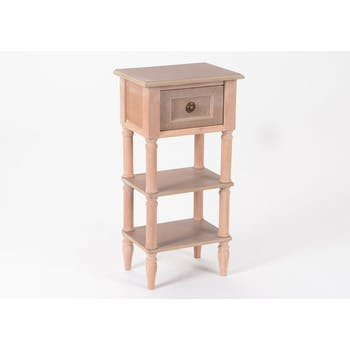 Chevet chic / Table téléphone en bois prêt à peindre BRICE L35XP25XH70cm AMADEUS