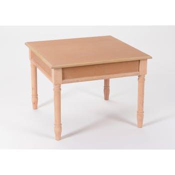 Table basse chic en bois prêt à peindre BRICE L60 X Larg60 X H45cm AMADEUS