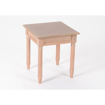 Bout de canapé / Table d'appoint chic en bois prêt à peindre BRICE L40 X Larg40 X H45cm AMADEUS