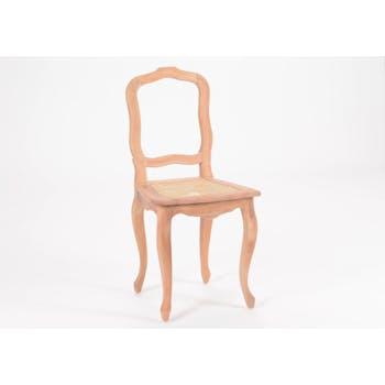 Chaise cannée romantique en bois prêt à peindre MERVEILLE H93cm AMADEUS