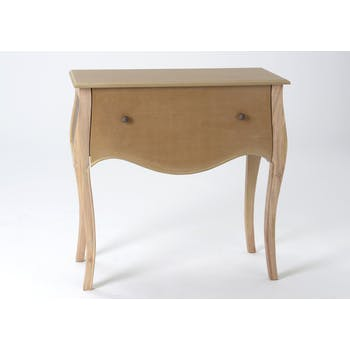 Commode romantique en bois prêt à peindre 1 tiroir MERVEILLE L75XP35XH75cm AMADEUS