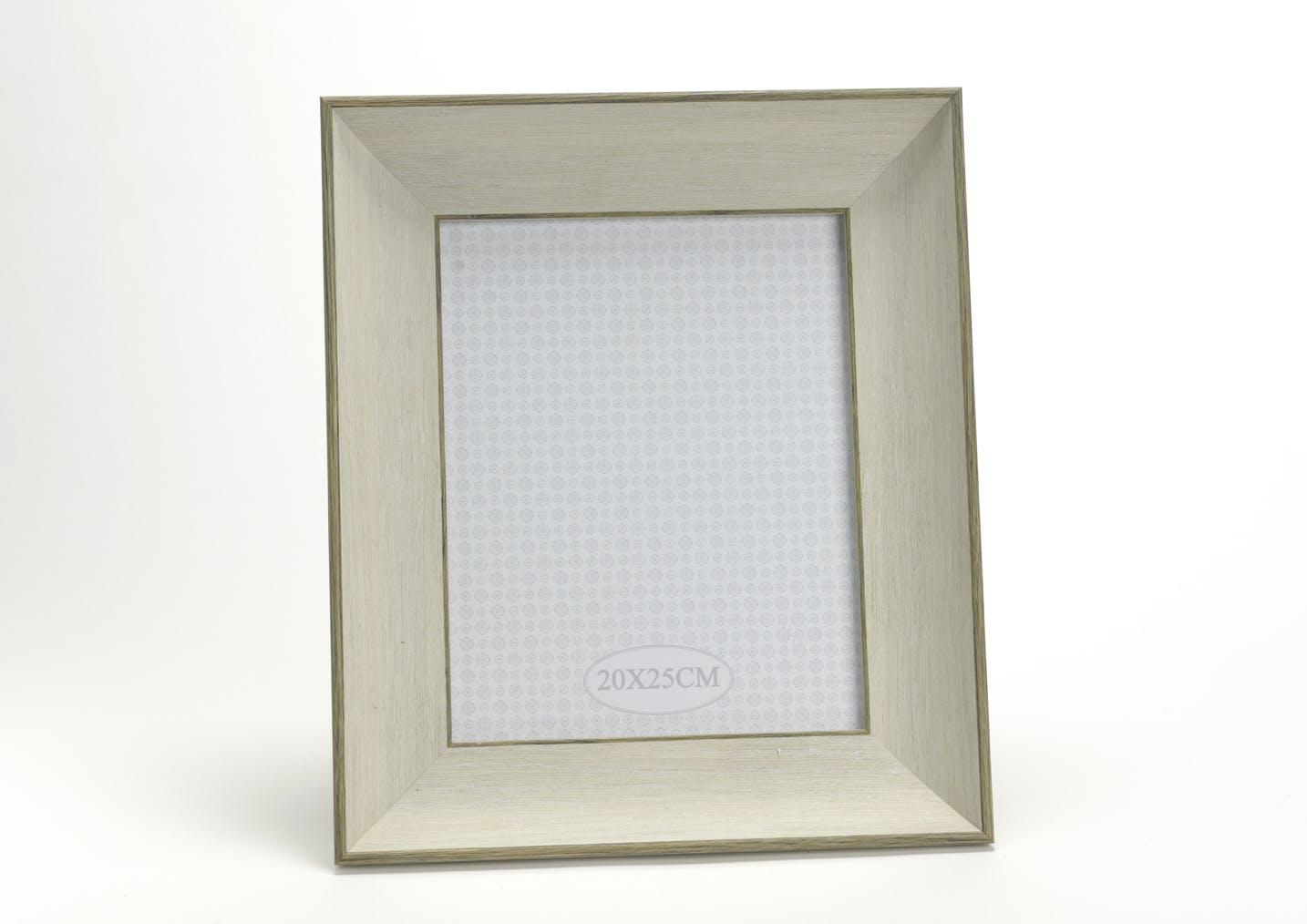Cadre photo avec moulure effet bois 34X36cm