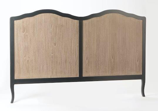 Tête de lit double Baroque CELESTINE ARDOISE bois naturel 195x125cm AMADEUS