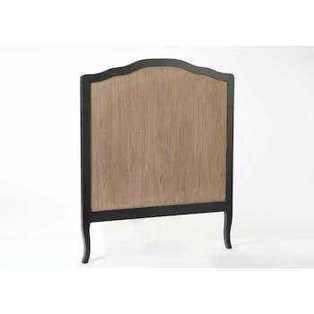Tête de lit Baroque CELESTINE ARDOISE bois naturel 105x125cm AMADEUS