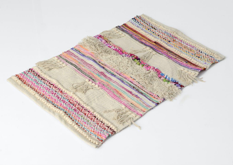 Tapis Bohème aux couleurs Pop multicolore en coton 180x120cm