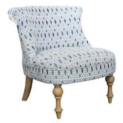 Fauteuil Crapaud tissu motifs bleu LANZAROTE ref. 30020686