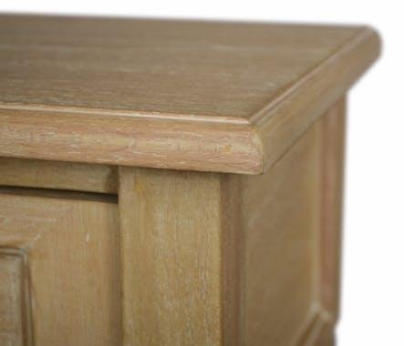 Chevet bois massif 1 tiroir HAMBOURG ref. 30020698