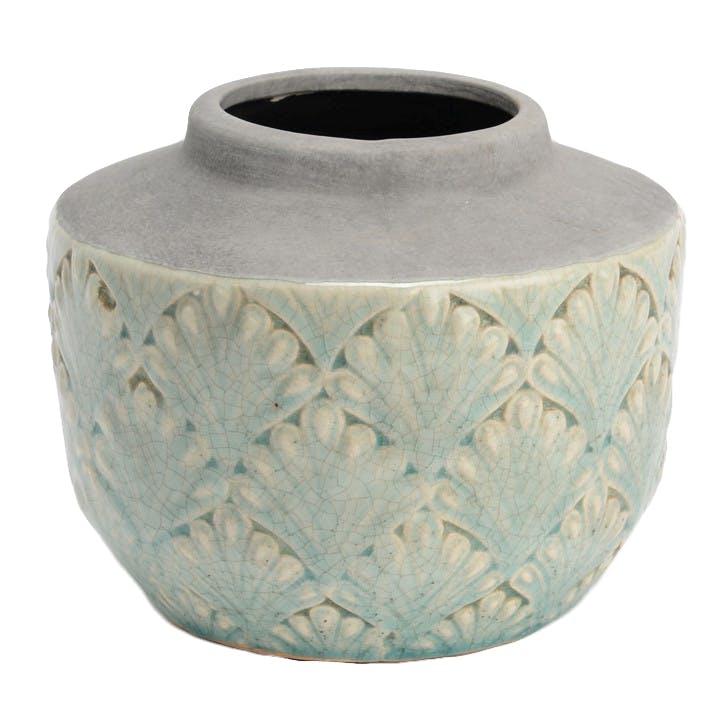 Vase céramique motifs art déco