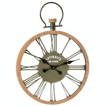 Horloge vintage métal 65 cm