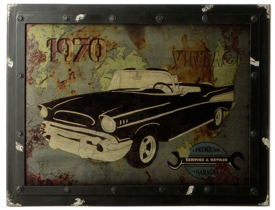 Plaque décorative voiture américaine 80X60 cm