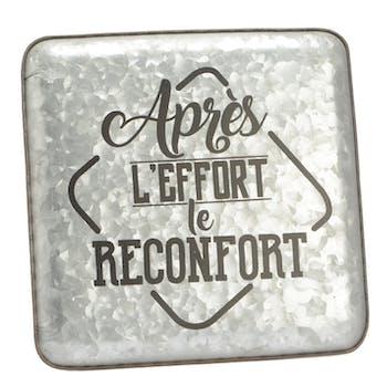 """Plaque décorative métal """"le réconfort """""""