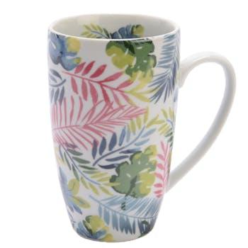 Coffret mug porcelaine décor exotique