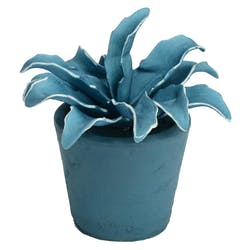 Plante artificielle bleue en pot 14 cm