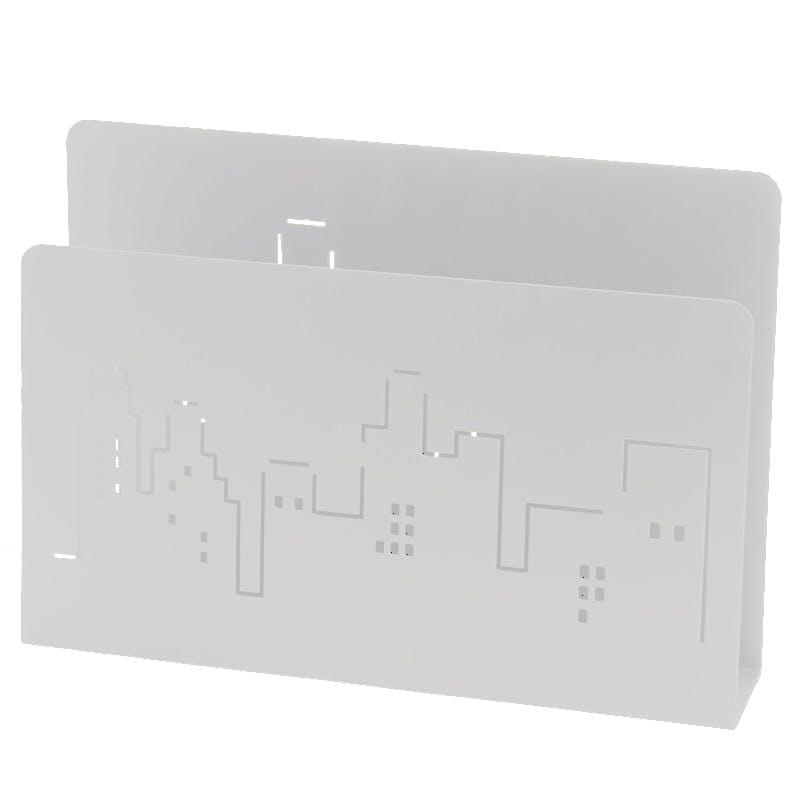 Porte-revues métal blanc New-York
