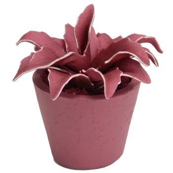 Plante artificielle couleur prune en pot 14 cm
