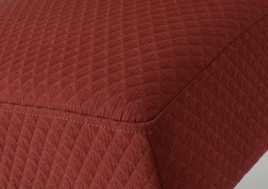 Fauteuil rouge contemporain relief