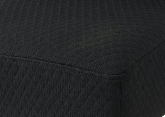 Fauteuil noir contemporain relief