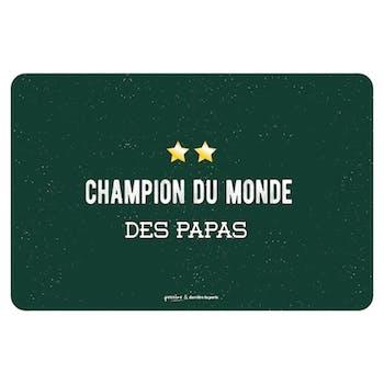 Set de Table CHAMPION DU MONDE DES PAPAS DLP
