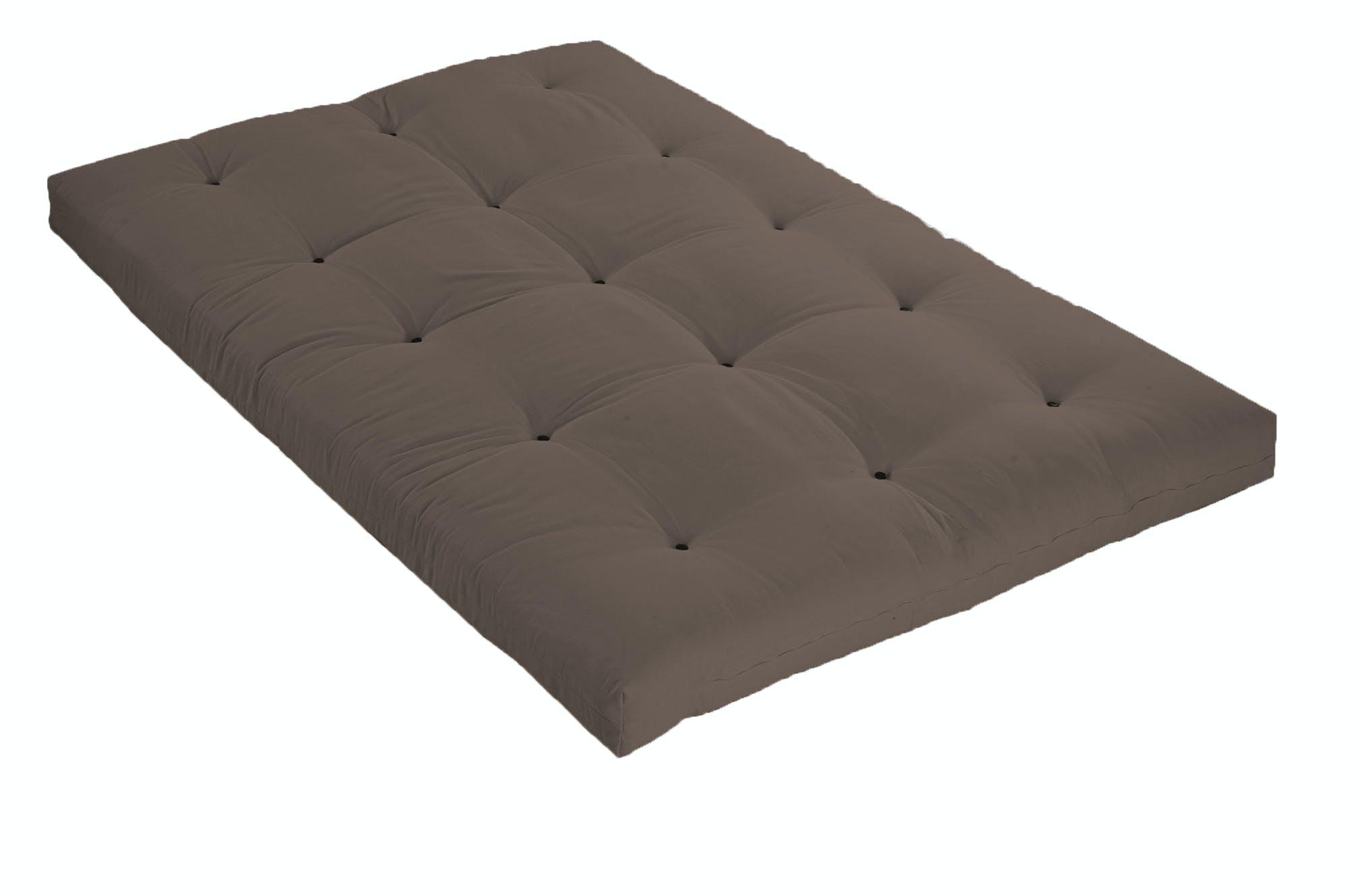 Véritable Futon coton 1 pers 90 X 190 cm taupe
