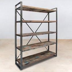 Etagère industrielle bois métal CARAVELLE