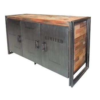 Buffet bois recyclé 3 portes 160x90 CARAVELLE