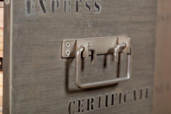 Buffet bois recyclé 4 portes 3 tiroirs 200x90 CARAVELLE