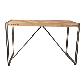 Table mange debout rectangle bois recyclé 150x80 CARAVELLE