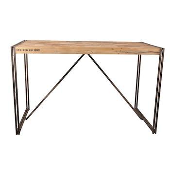 Table mange debout rectangle bois recyclé 180x90 CARAVELLE
