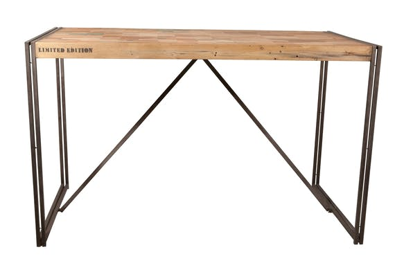 Table mange debout rectangle bois recyclé 180x90 CARAVELLE