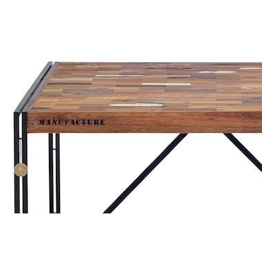 Table à manger carrée industrielle 140 CARAVELLE