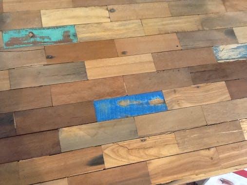 Table à manger rectangle bois recyclé 250x100 CARAVELLE