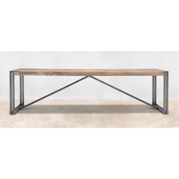 Banc pour table à manger bois recyclé 180x40 CARAVELLE