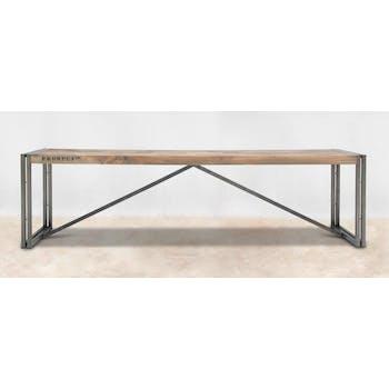 Banc pour table à manger bois recyclé 220x40 CARAVELLE