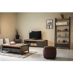 Meuble TV industriel bois métal boulons BROOKLYN