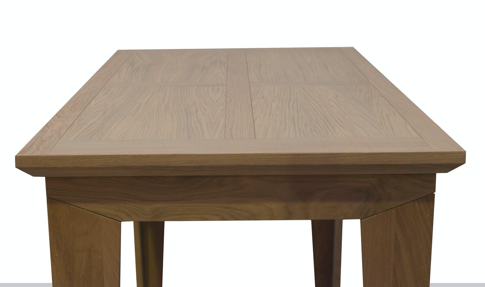Table mange debout chic chêne finition amande naturelle pieds en équerre 120x70x105cm MANOIR