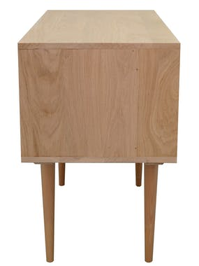 Commode nordique chêne finition naturelle 4 tiroirs 101x45x77cm BALTIC