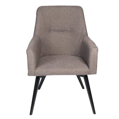 Fauteuil inspiration scandinave tissu couleur grise pieds bois noir 72x62xH88cm OSLO 2