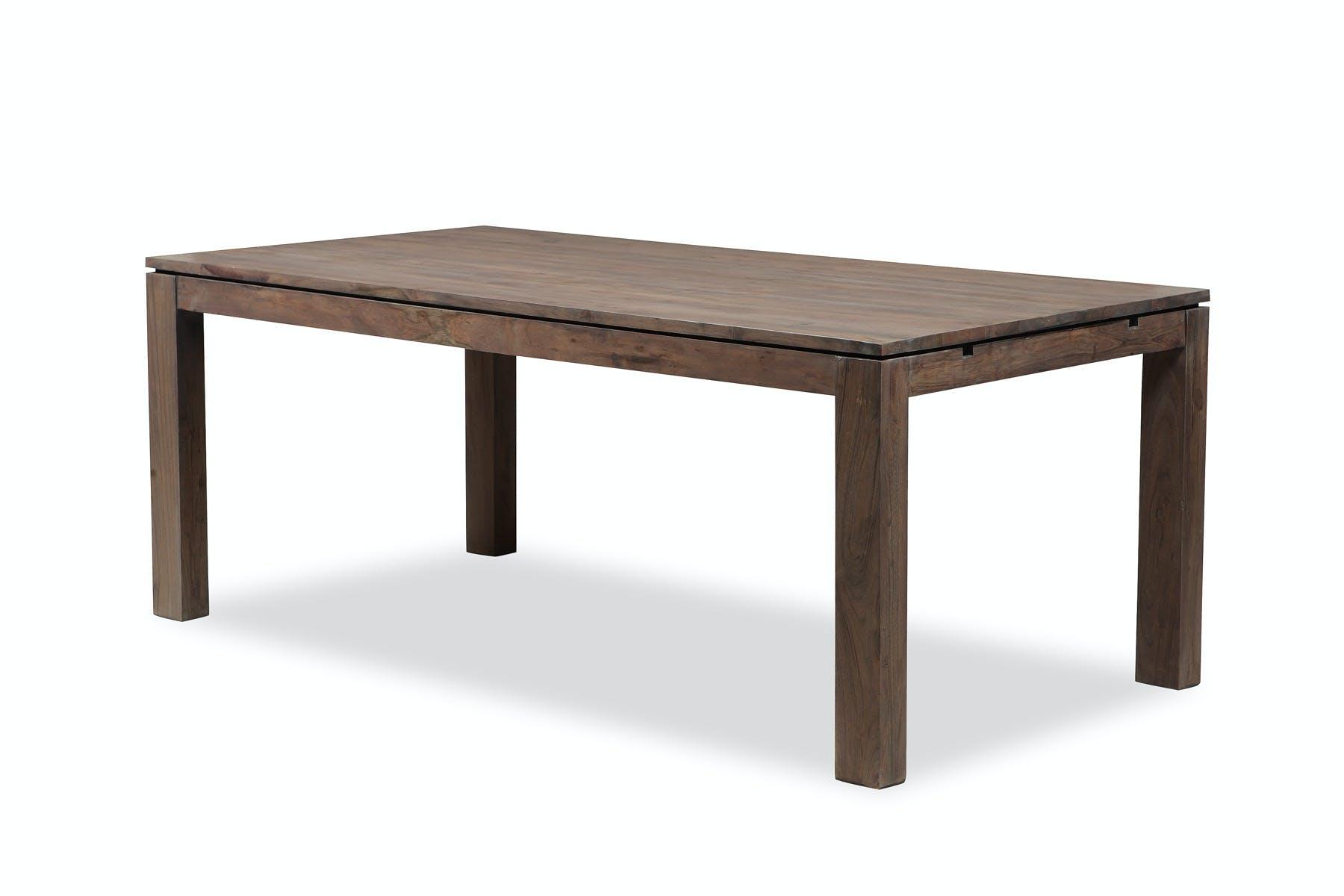 Table repas extensible 160/260cm BOREAL acacia grisé