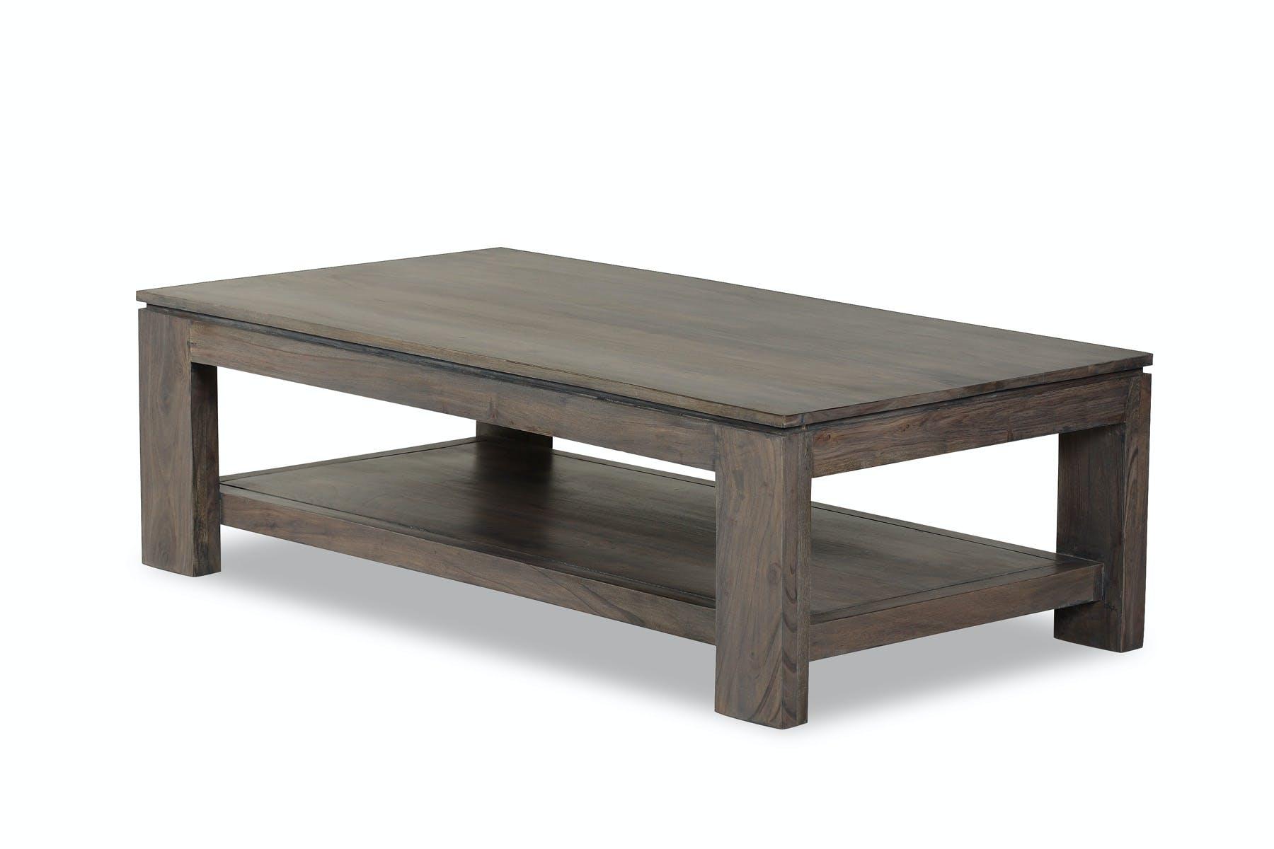 Table basse rect 130x70cm BOREAL acacia grisé