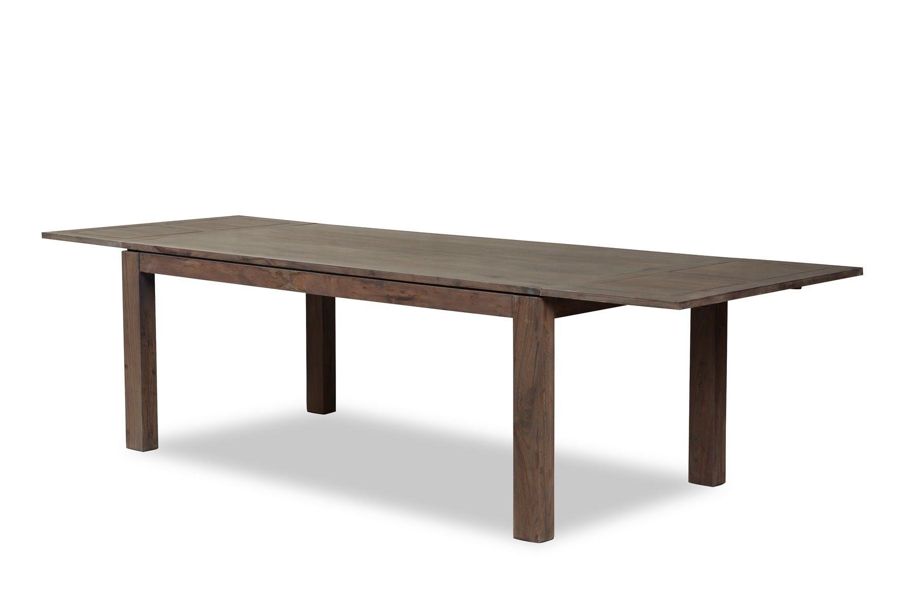 Table repas extensible 200/300cm BOREAL acacia grisé