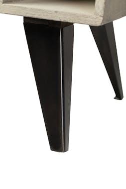 Commode en manguier massif 6 tiroirs pieds métal 48x37xH110cm BUFFALO