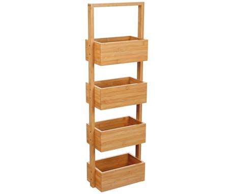 Rangement pour salle de bain 4 niveaux en Bambou