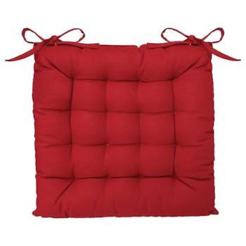Galette de chaise 16 points rouge 38x38cm