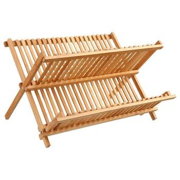 Egouttoir à vaisselle pliant en bambou 42x33xH25cm