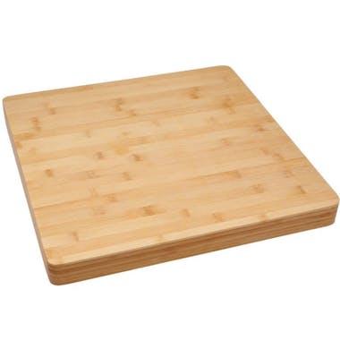 Planche à découper carrée en bambou 37x37cm