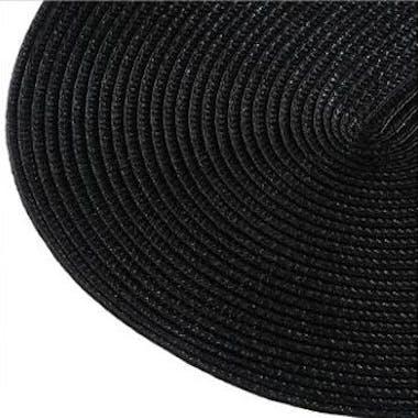 Set de Table ovale tressé noir